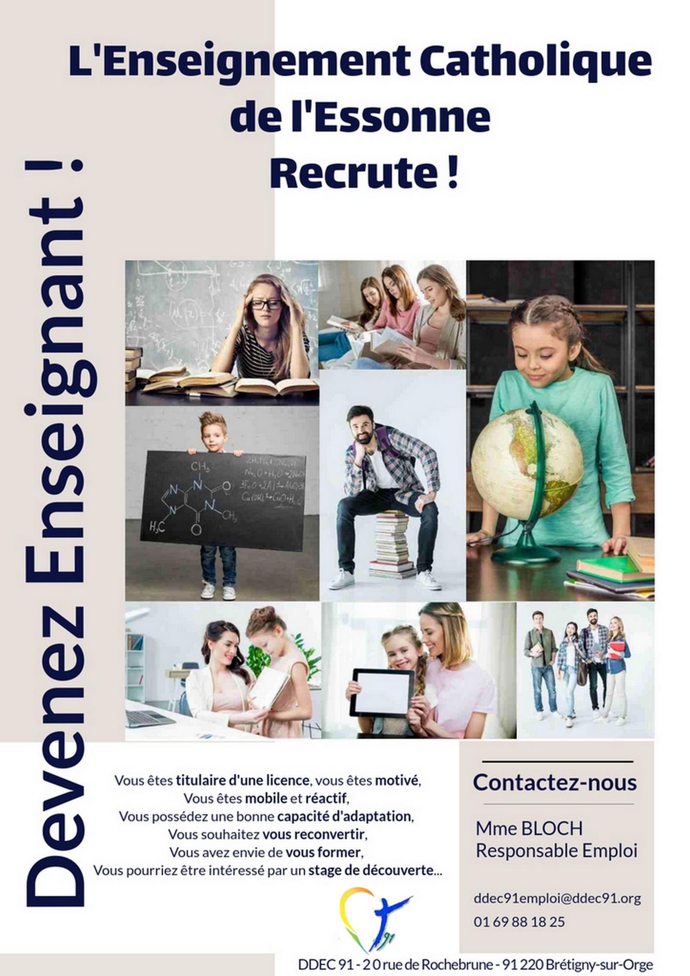 Read more about the article L'Enseignement Catholique de l'Essonne recrute !